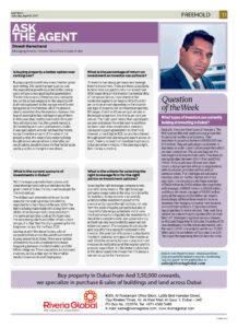 Mr. Dinesh Ramchand Gurnani, Managing Director of Riveria Global Real Estate Broker Featured in Gulf News